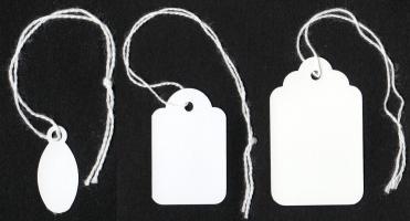 Etiketten mit Faden